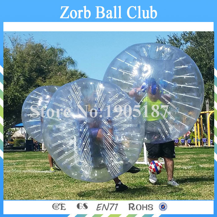 Free Shipping 1.5m Size 0.8mm TPU Bubble soccer , Bumper Ball ,Human Hamster Ball ,Bubble Football .Bubble suit ,loopy ball