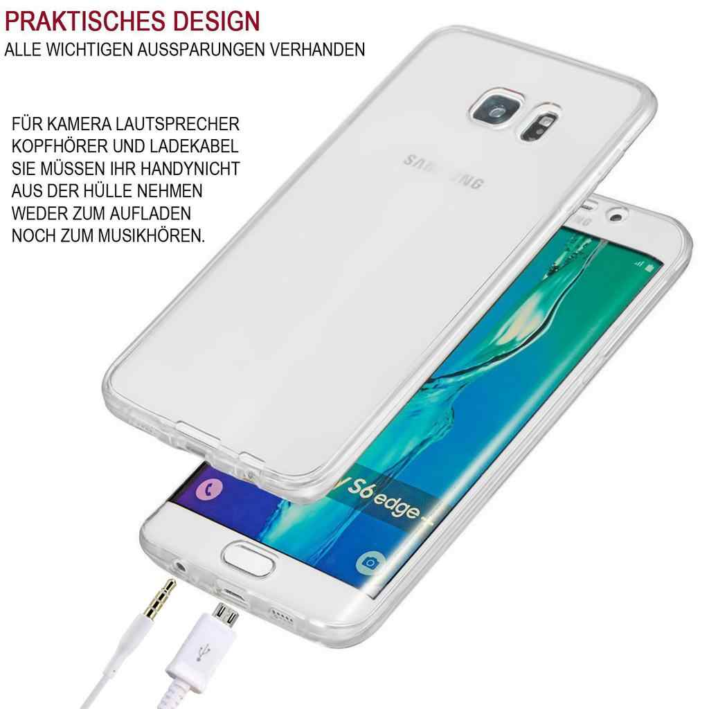 Cubierta de TPU híbrida completa 360 para Samsung S4 5 6 7 8 9 Edge Plus Note 8 9 protección suave funda transparente de silicona