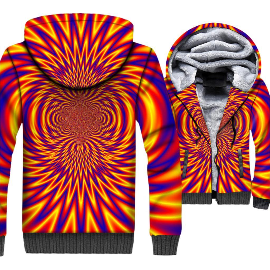 Vertigo Hypnotic 3D Hoodies Men 2019 New Arrival Winter Warm Whirlpool Jackets Harajuku Colorful Sweatshirts Hip Hop Streetwear in Hoodies amp Sweatshirts from Men 39 s Clothing