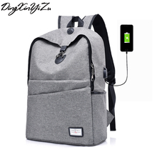 2008 New USB Charging Men's Backpacks Male Business Travel women Teenagers Student School Bags Simple Notebook Laptop Backpack