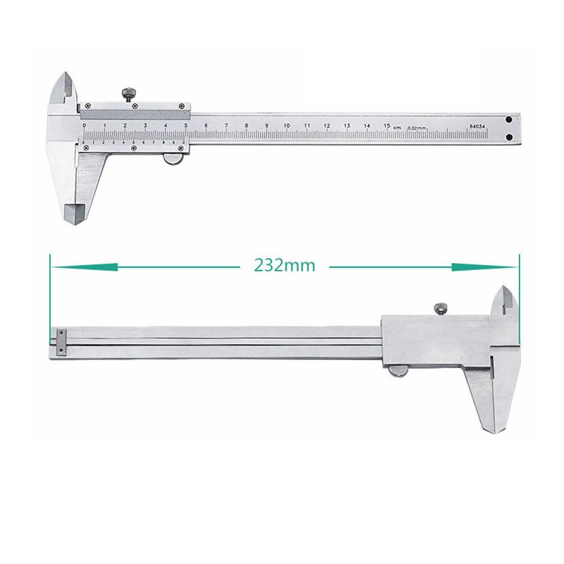 Caliper 0-150mm/0.02mm Stainless Steel Vernier Calipers Outside Inside Depth Stair Calipers Measuring Instruments Micrometer
