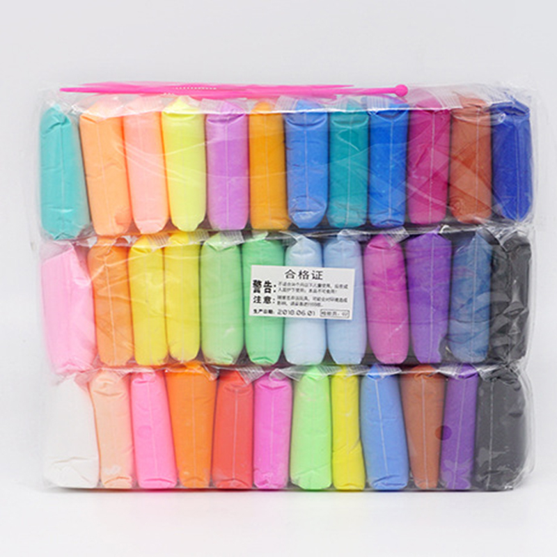 36pcs And 3 Tools 5D Fluffy Foam Clay Slime DIY Soft Colored Clay No Borax Education Craft Toy Antistress Kids Toys For Children