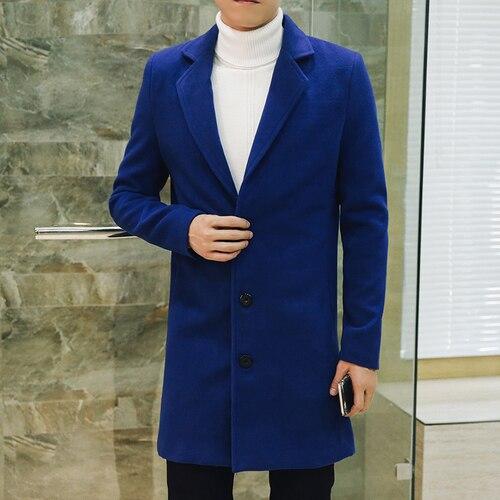 Royal Blue Men's Wool...