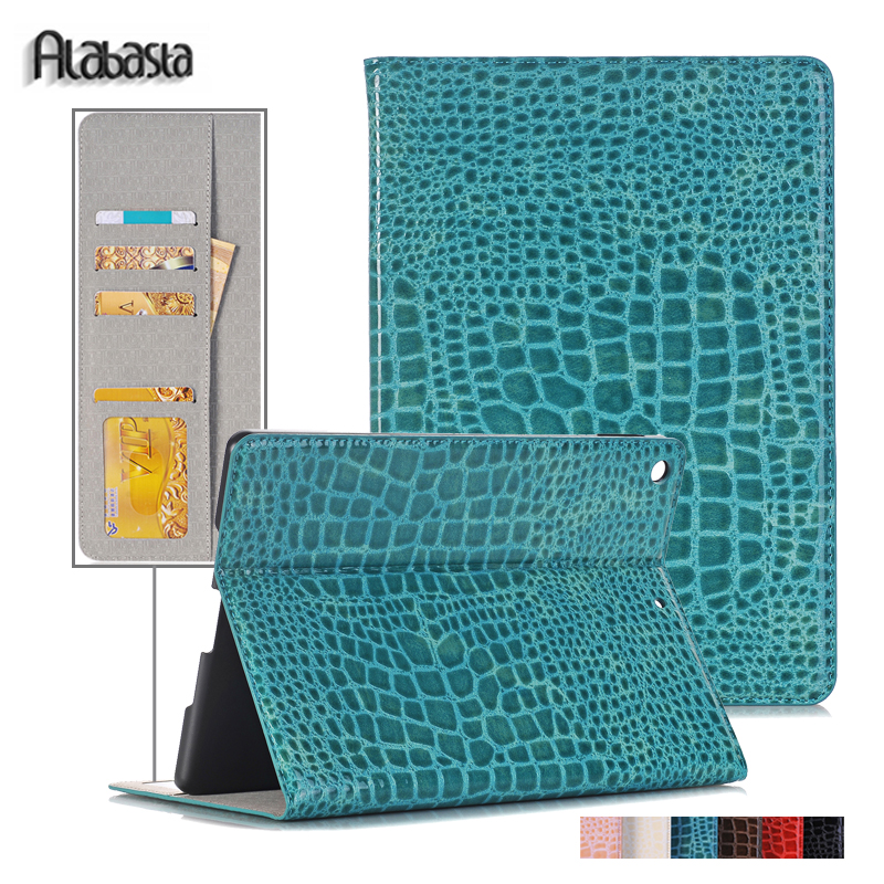 Case For Apple ipad pro 12.9 Alabasta Magnetic Auto Wake Up Sleep Flip Crocodile PU Leather Smart Cover for ipad pro 12.9 shell newest hard shell leather cover case for kobo aura h2o 6 8 inch ebook wake up and sleep screen protector stylus pen