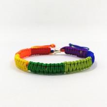 Valentine's Kingitused Gussy Life 7 värvi ehted Rainbow Flag Pride LGBT Charm Braided käevõru Gay lesbi kootud Lovers käevõrud
