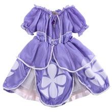 Crianças Roupas de Bebê Vestido Da Menina Traje Da Princesa Sofia Meninas Crianças Festa de Aniversário Bling Fantasia Roxo Vestido Tutu Roupas