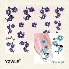 YWK 1Pcs Nail Art Water Sticker Nails Beauty Wraps Foil Polish Decals Temporary Tattoos Watermark YZW1466