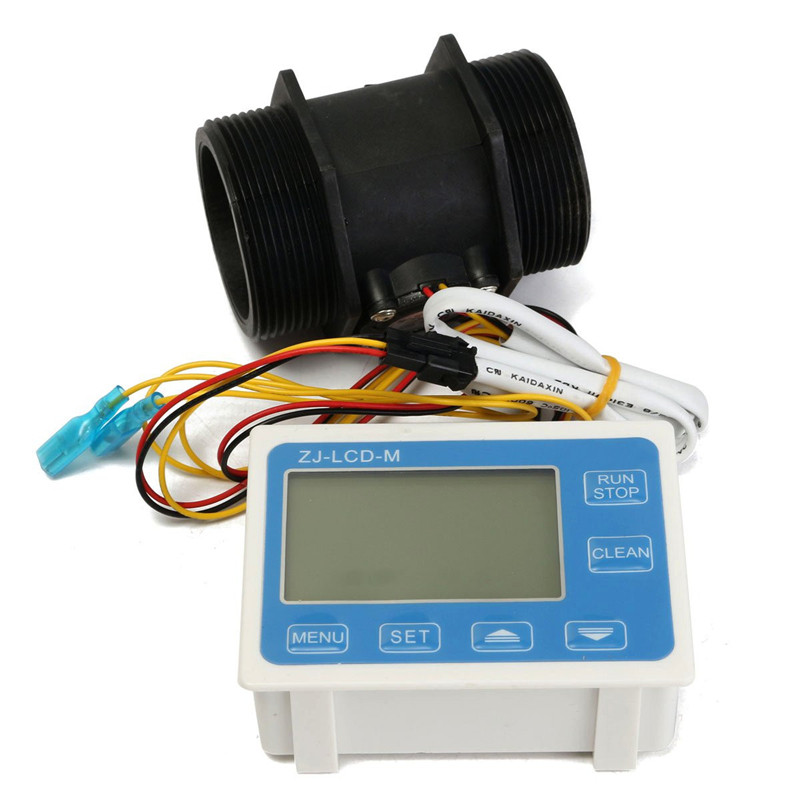 ФОТО Water Flow Sensor Meter+ Digital Flowmeter LCD Display Quantitative Control ZJ-LCD-M Operating temperature -20-100C
