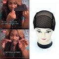 3 pcs Frete Grátis preto/brown full lace wig caps para fazer perucas Tamanho livre cap net peruca tampas de tecelagem com alças reguláveis nas costas