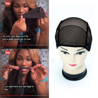 3pcs free shipping black brown full lace wig caps for making wigs free size wig net.jpg 200x200
