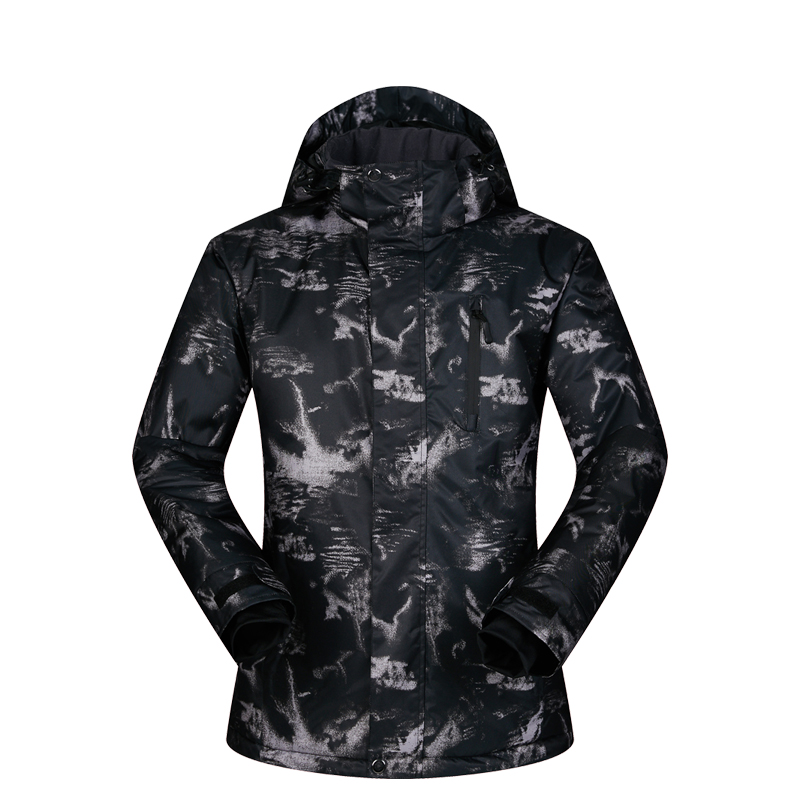 Hommes veste de Ski Ski Snowboard vêtements coupe-vent imperméable à l'eau en plein air Sport porter Super chaud à capuche respirant manteau veste d'hiver - 4