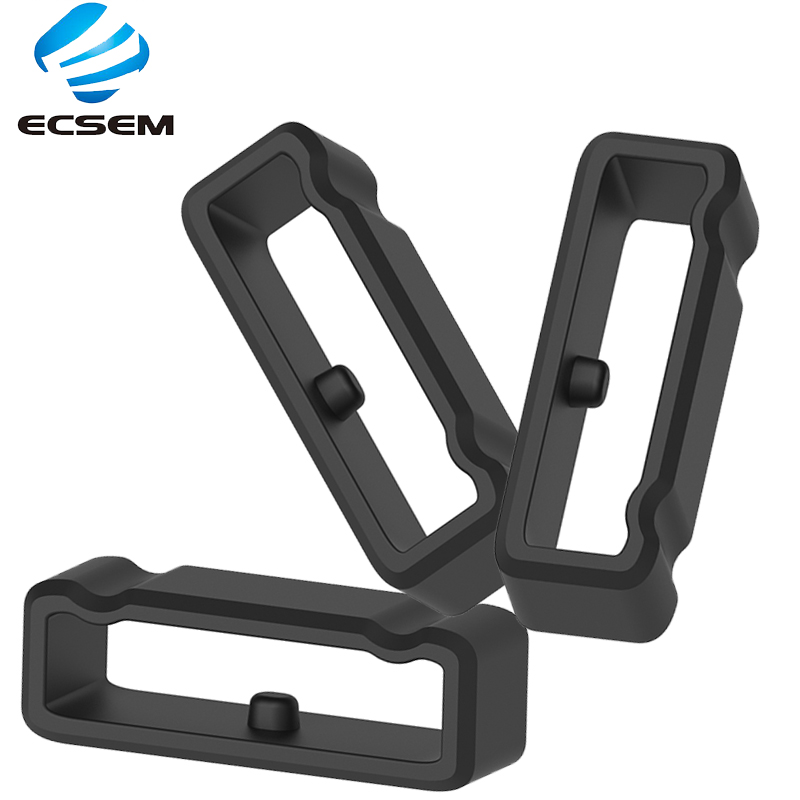 ECSEM Silicone Rubber Loop For Watch Band Keeper 24MM Width Size Special Band Keeper For Suunto 9/Spartan Sport Rubber Loop
