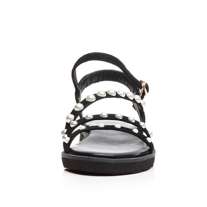 c0e8684d1b400d ... New Model 2018 39 Flops Gladiator Sandals Flat Bead Shoe Ladies Women  KoHuiJoo 34 String Flip ...