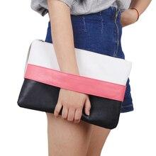 Клатчи лоскутная сумочка сумку модные молния пакет мягкая день твердые леди
