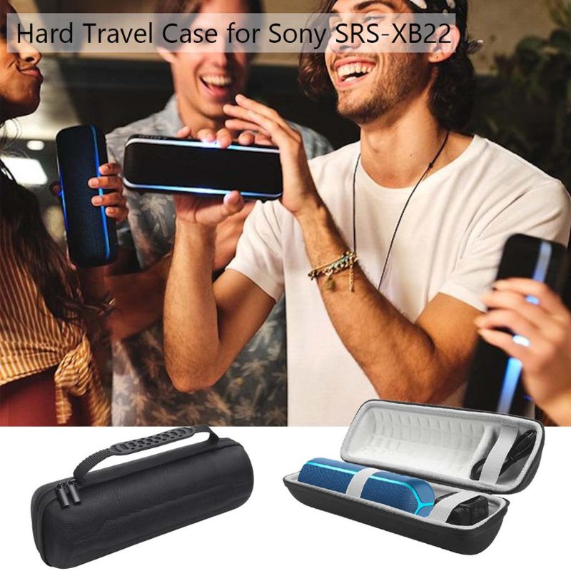 Newest 1pcs Round Shockproof Hard Protective EVA Case Box For Sony SRS-XB22 Extra Bass Portable Bluetooth Speaker