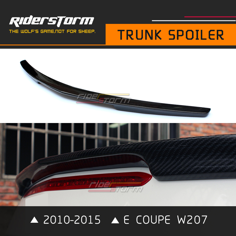 With 3M Tape W207 Carbon Spoiler E Coupe Rear Trunk Tail Wing Bootlid Lip for Mercedes 2010-2015 Rear Bumper E200 E250 mercedes w212 car styling carbon fiber replacement spoiler for benz e class w212 amg style 2010 rear trunk tail spoiler wing