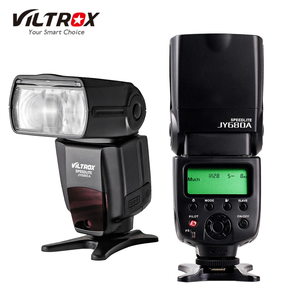 VILTROX JY680A JY680-A Universal GN33 speedlight LCD Camera Flash Light Speedlite for Canon Nikon Pentax Olympus SONY DSLR pixel m8 wireless universal speedlight flash light gn60 for canon nikon sony pentax fujifilm lumix dslr camera vs jy680a yn560iv