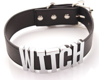 Witch Necklace Witch Choker Witch Collar Women Choker For Cosplay Big Letters