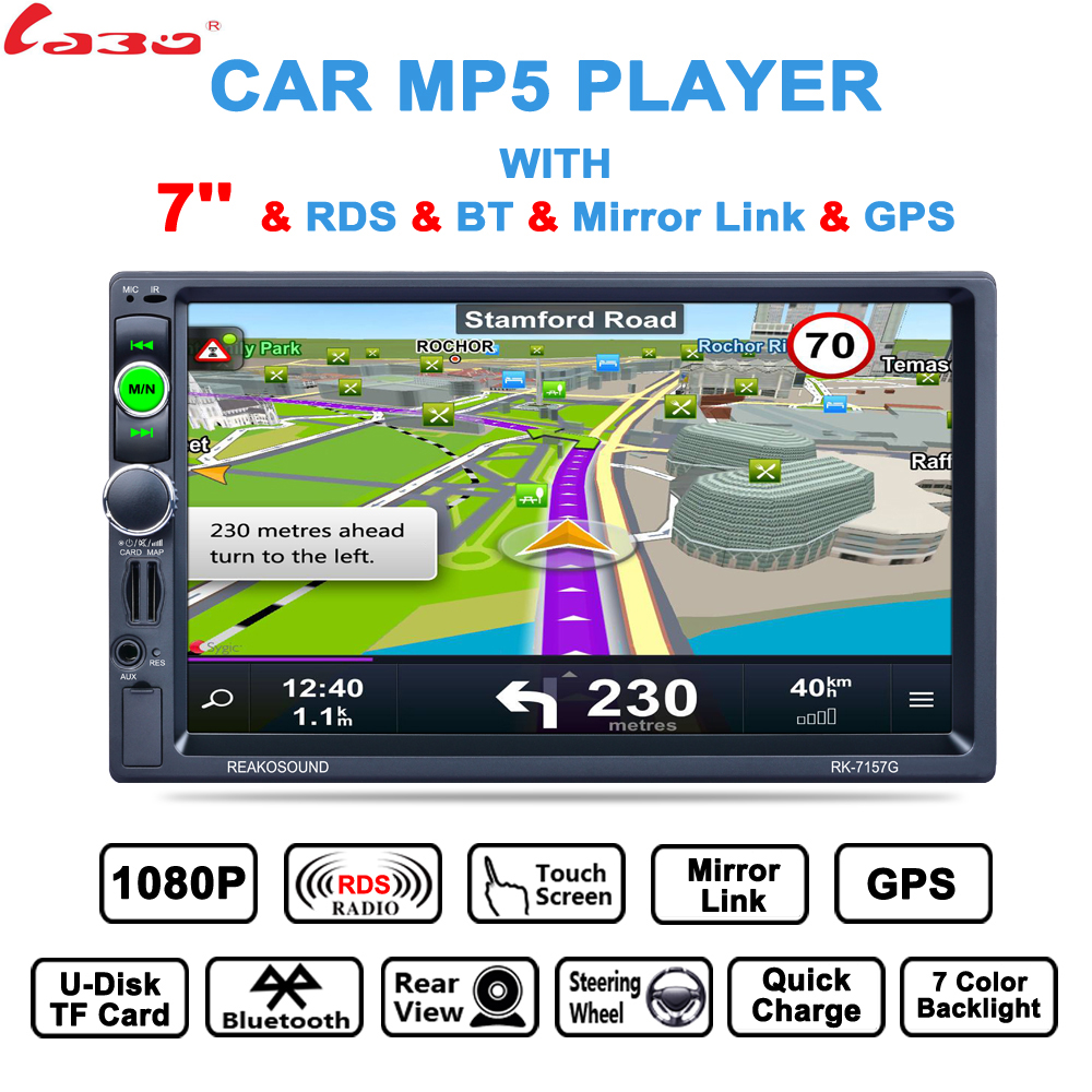 купить NEW!!!! 7 inch HD Car GPS Navigation FM Bluetooth AVIN Map Free Upgrade Navitel Europe Sat nav Truck gps navigators automobile по цене 5633.42 рублей