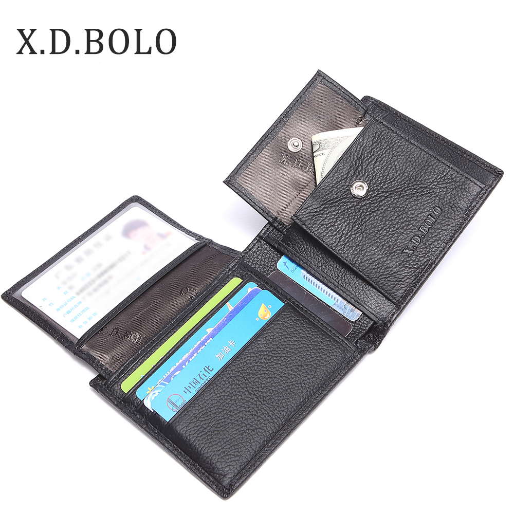 X.D.BOLO Leather Men Wallets Coin Purse Mens Wallet Male Money Purses Soft Card Case Classic Designer Wallet Carteira Masculina стоимость