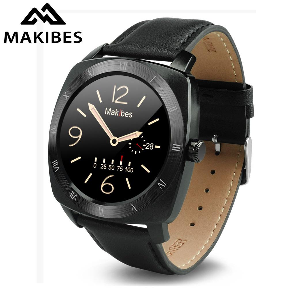 Prix pour Makibes porter rh bluetooth 4.0 smart watch mtk2502c moniteur de fréquence cardiaque message d'appel alerte smartwatch pour android et ios smartphone