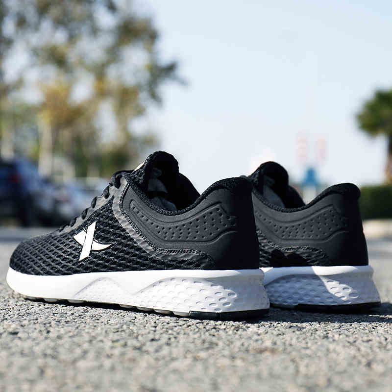 983218329025 XTEP Original Breathable Sneakers Women's Light Weight Black Running Shoes