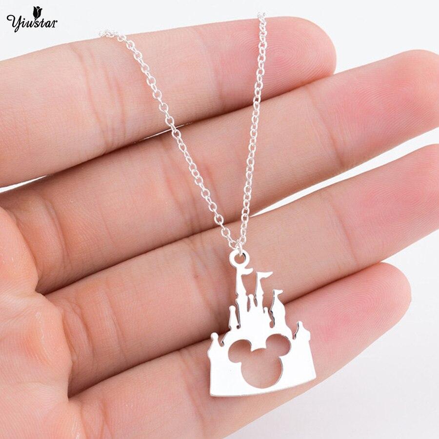 castle Mickey head necklace