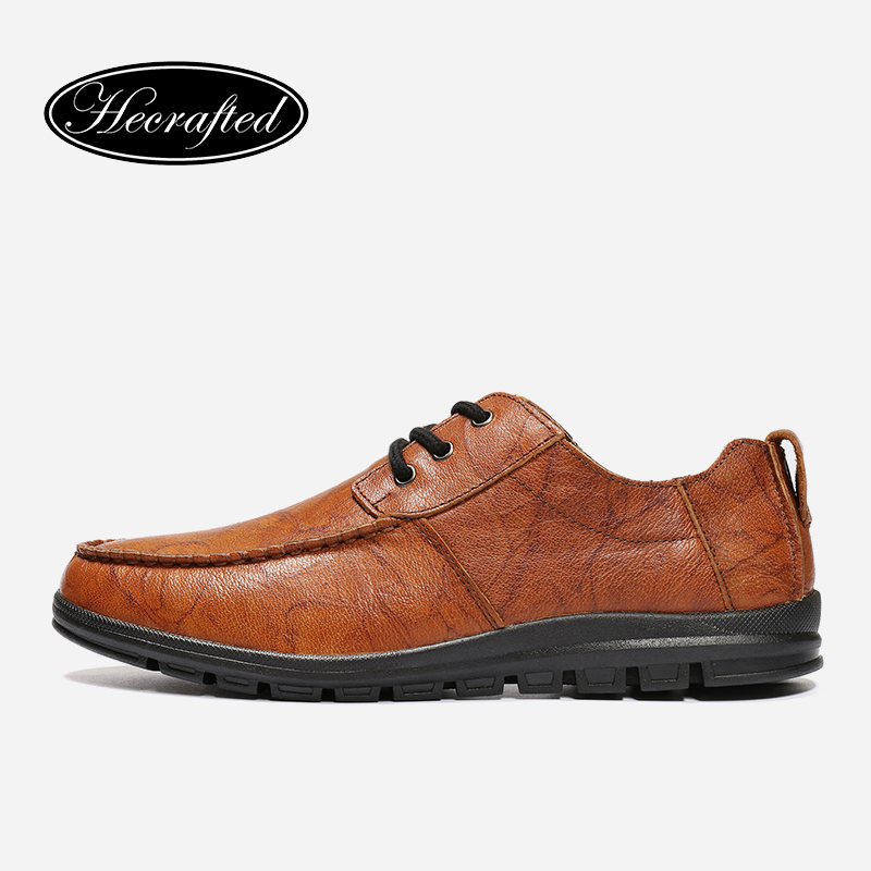 size 36~47 full grain leather men casual shoes 2018 Hecrafted fashion comfortable men shoes #FJ681 size 36 46 men