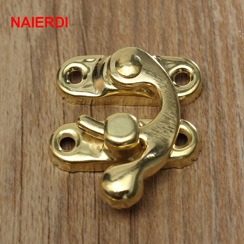 Home Improvement ... Hardware ... 32573665822 ... 2 ... 10PCS NAIERDI Small Antique Metal Lock Decorative Hasps Hook Gift Wooden Jewelry Box Padlock With Screws For Furniture Hardware ...