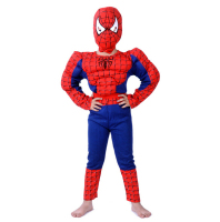 Muscle Spiderman Costume Children Kid Boy Girl Halloween Costume The Spider Man Mask Ball Masquerade Party