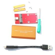 Durable USB 3.1 Tipo C Para Caso Del Recinto de la Caja 10 GB Msata SSD De 3030/5030 LS31-21M Almacenamiento De Memoria Externa