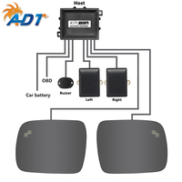 Car BSD Microwave Radar Sensor Blind Spot Detection System BSM With LED Light Warning For L and R over