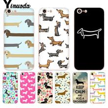 Yinuoda For iphone 7 6 X Case Animals Dogs Dachshund Transparent Phone Cover for iPhone 8 6S Plus 10 5 5S SE 5C XS XR