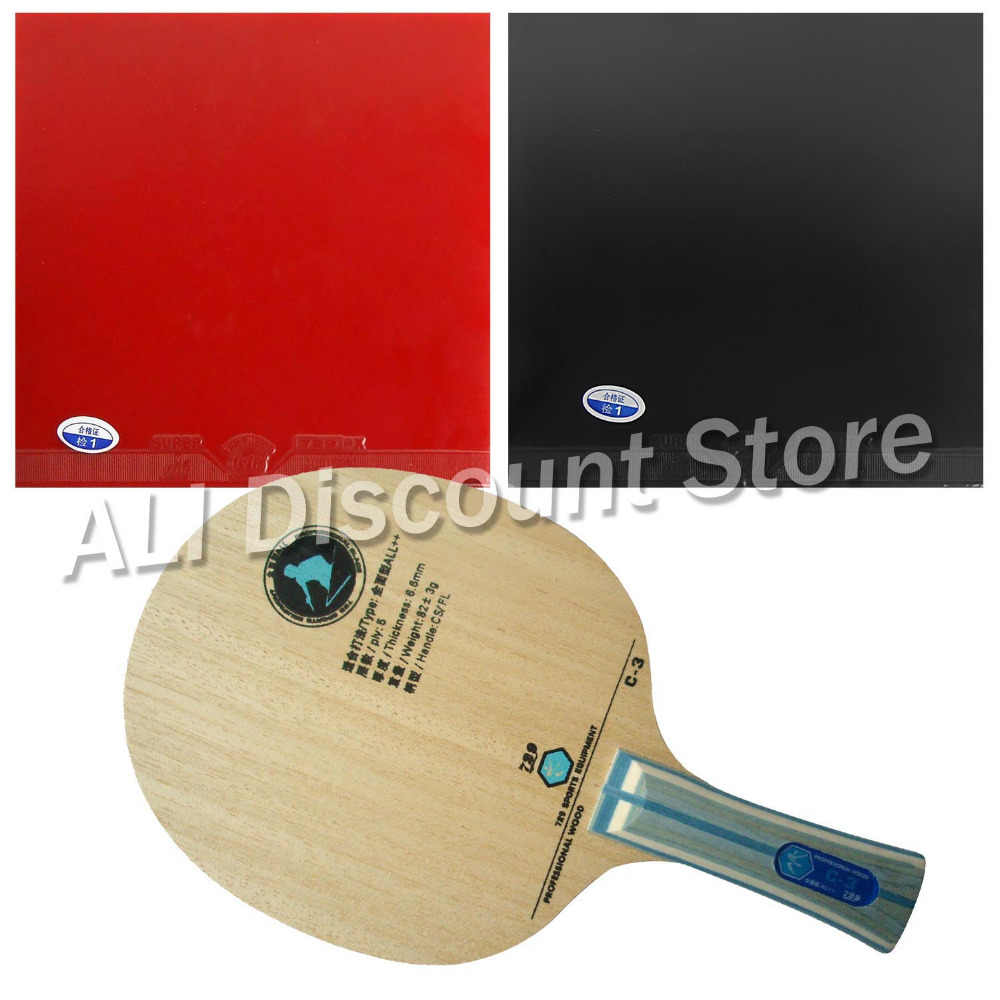 RITC729 C-3 Blade with 2x Super FX Rubbers for a Table Tennis Combo Racket FL