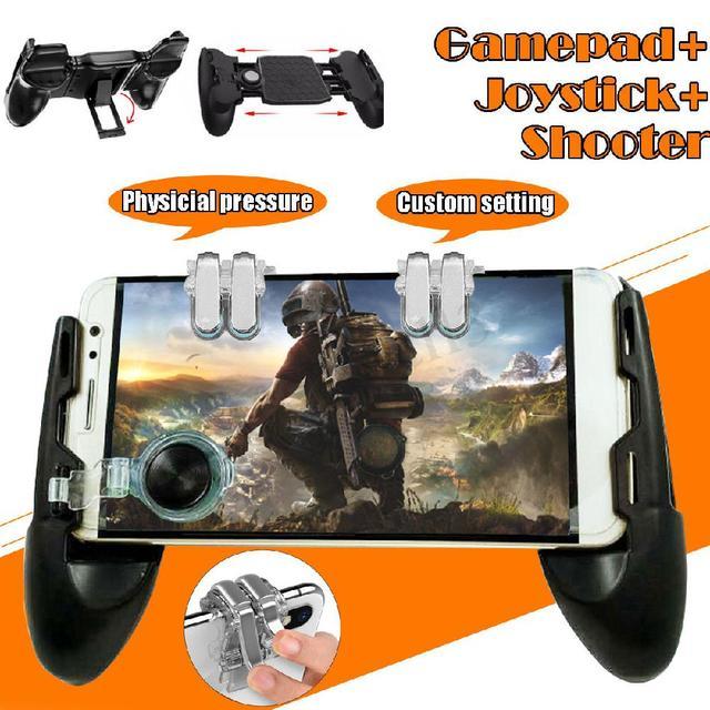 3 in 1 Mobile Gaming Gamepad Joystick e Controller Trigger e Pulsante di Fuoco per PUBG