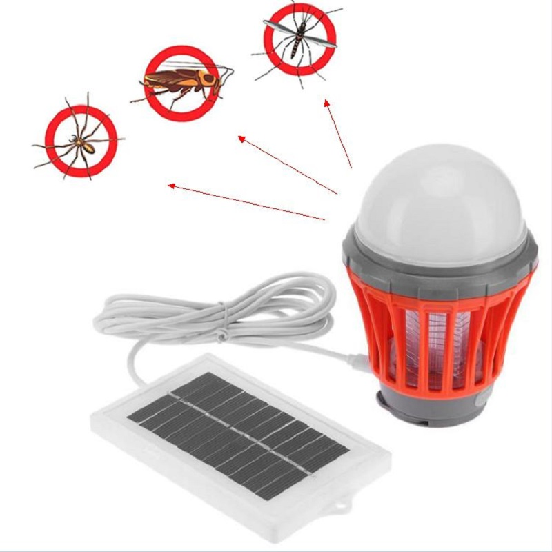 Outdoor USB Charging Anti Mosquito Light Lamp Solar Insect Mosquito Killer Electric Mosquito Trap Night Light Bug Wasp Bulb