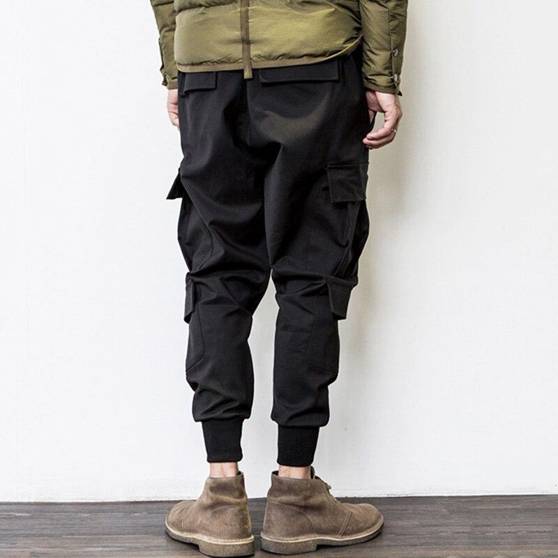 Pour Élastique Black Noir Baisse De Harem Joggers Streetwear Jogger Hip Hop Taille Mens Multi Entrejambe Cargo Hommes Pantalon Poches qUaaX0