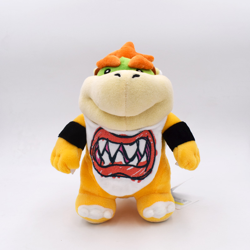 21CM Standing Super Mario Bowser JR Koopa Bowser Dragon Plush Doll Soft Peluche Toy Free Shipping