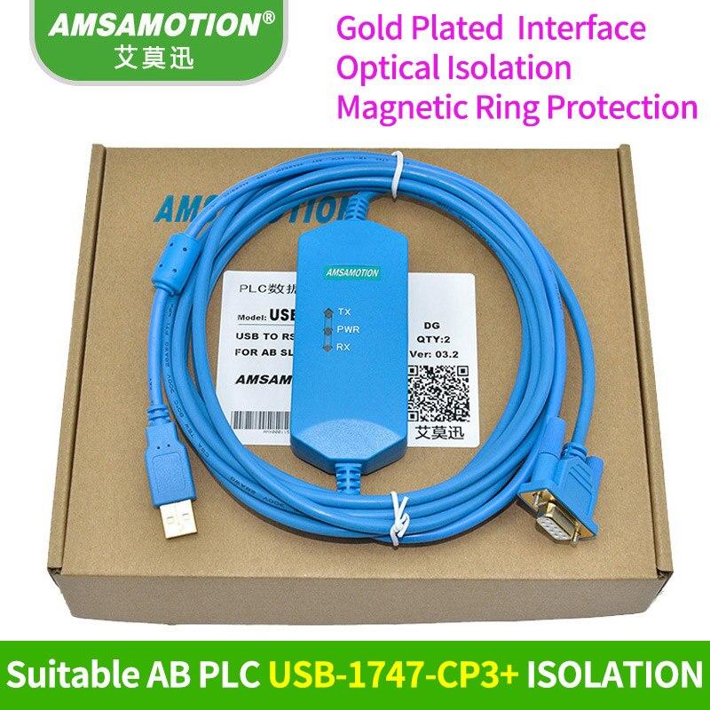 Adapté Allen Bradley AB SLC 5/03/04/05 PLC Câble de Programmation USB-1747-CP3 Télécharger Câble