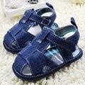 Nuevos Zapatos de Bebé de Verano Clásico Azul Jean Muchachas de Los Bebés Zapatos Del Niño Primeros Caminante Zapatos Inferiores Suaves