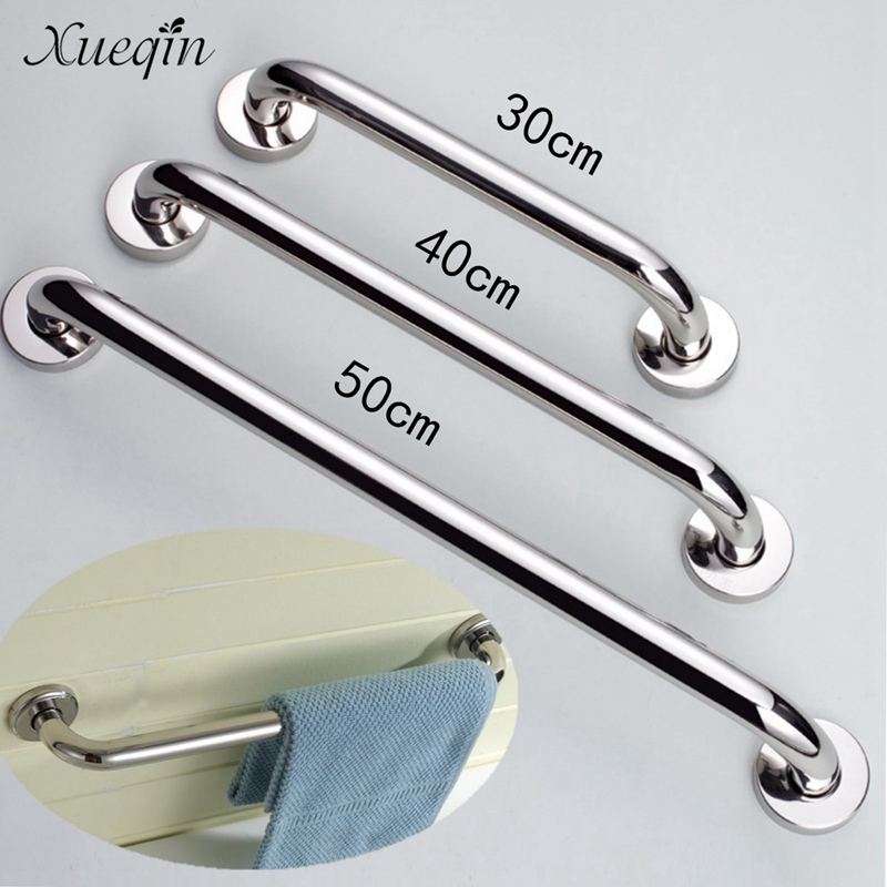 Xueqin Stainless Steel 30/40/50cm Bathroom Tub Toilet Handrail Grab Bar Shower Safety Support Handle Towel Rack
