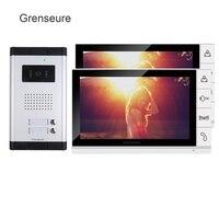New Apartment 9 Color Screen Video Intercom Door Phone System 2 Monitors 1 Doorbell Camera For