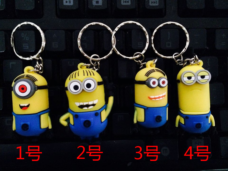 Buy Hot! Funny mini usb flash drive cute minion pendrive 8GB 16GB 32GB 64GB 128GB pen drive memory flash drive wholesale for only 4.89 USD