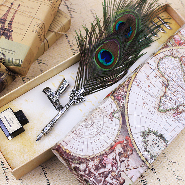 Feather Quill Pen & Ink Set -Turkey