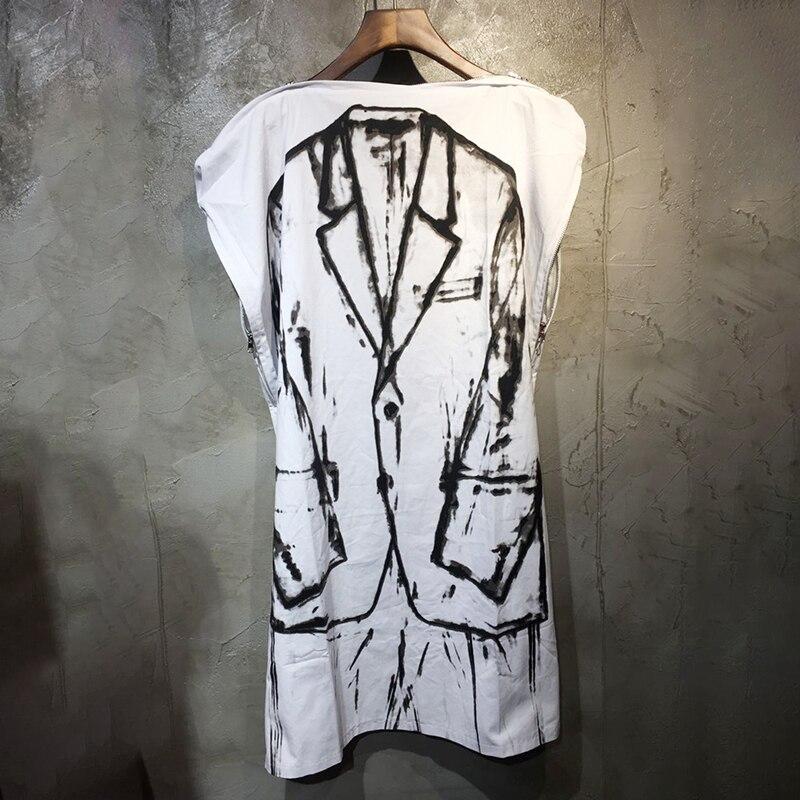 LANMREM 2019 été nouvelle tendance Design tendance encre peinture costume peinture lâche décontracté dames robe femmes robes QJ45500