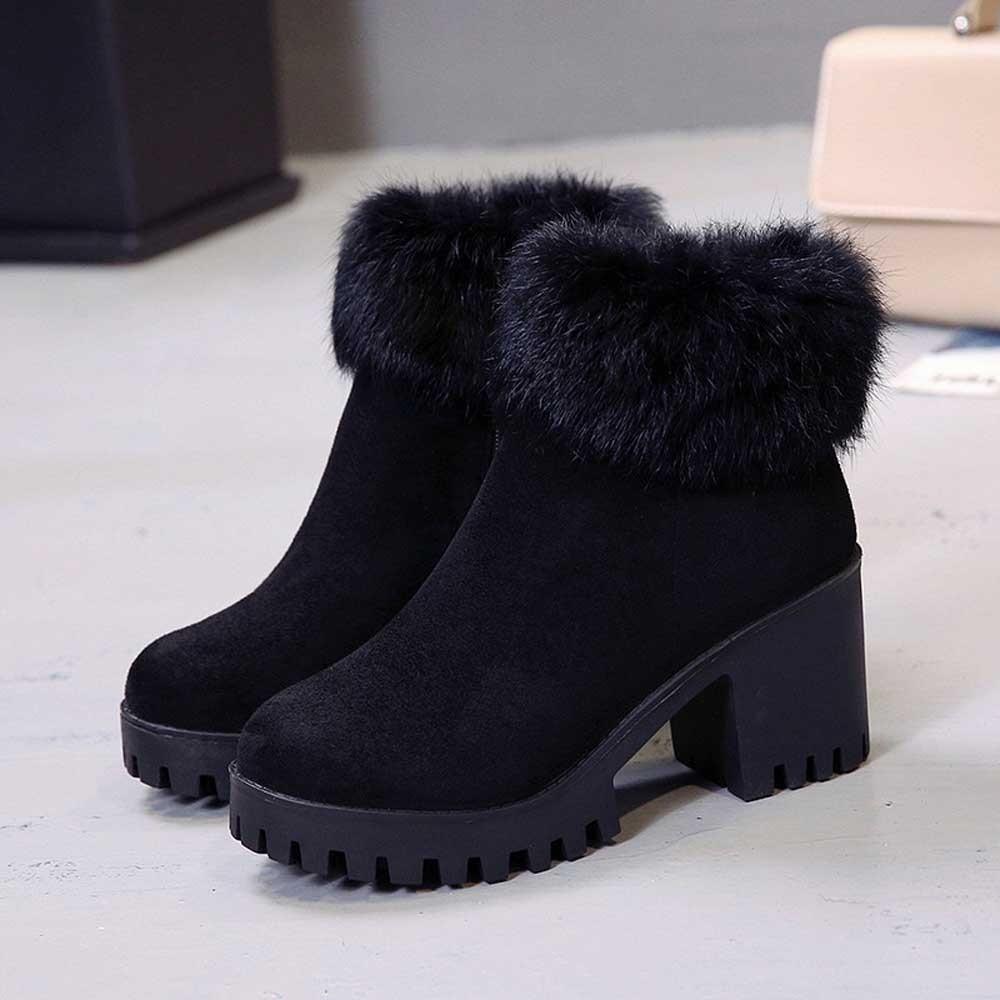 Bottes Mode khaki Chaussures Noir Cheville Casual 2018 Femme Noir Femmes Confortable Occasionnels Hauts À Talons Botas Automne 18Bq1r