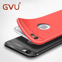GVU Phone Cases For iPhone 6 6s Case Matte Soft TPU Silicone Cover Case For iPhone 7 7 Plus 5 5s SE Case Full Cover