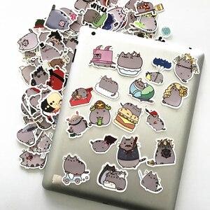 Image 4 - TD ZW 100Pcs Cartoon חתול מדבקות מדבקות עבור סנובורד מחשב נייד מטען לרכב מקרר DIY סטיילינג ויניל בית תפאורה Pegatina