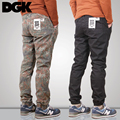 Free shipping spring street reducing trousers slacks man  pants elastic camouflage pants closed with the feet height