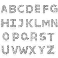 Venta caliente moda 26 unids inglés carta brillante CZ ZIRCON mujeres 925 plata esterlina regalo